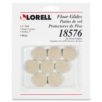 Lorell Self-Stick Round Felt Floor Glides LLR18576