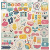"Summer Dreams Cardstock Stickers 12""X12"" NOTM479557"