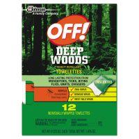 OFF! Deep Woods Towelettes, 12/Box, 12 Boxes per Carton SJN611072