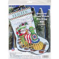 Santa's Train Stocking Counted Cross Stitch Kit NOTM052887