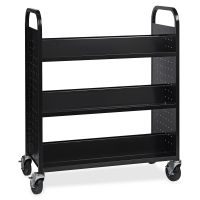 Lorell Double-sided Book Cart LLR99931