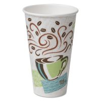 Dixie Hot Cups, Paper, 16oz, Coffee Dreams Design, 50/Pack DXE5356CD