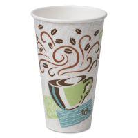 Dixie Hot Cups, Paper, 16oz, Coffee Dreams Design, 50/Pack DXE5356CD