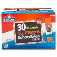Elmer's Washable School Glue Sticks, 30/Box EPIE556