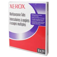 Xerox Single Reverse Collated Index Dividers, 5-Tab, White Tab, Letter, 50 Sets XER3R04416