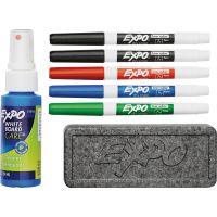 EXPO Dry Erase Marker, Eraser and Cleaner Kit, Fine, 5 Assorted, 1 set SAN80675