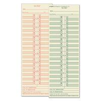 TOPS Time Card for Cincinnati/Lathem/Simplex/Acroprint, Semi-Monthly, 500/Box TOP1276