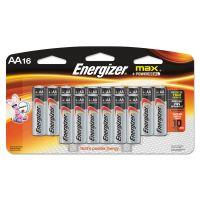 Energizer MAX Alkaline Batteries, AA, 16 Batteries/Pack EVEE91LP16