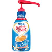 Coffee-mate Liquid Coffee Creamer, French Vanilla, 1500mL Pump Bottle NES31803