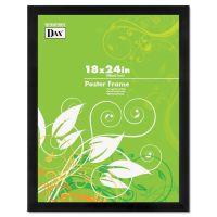 DAX Black Solid Wood Poster Frames w/Plastic Window, Wide Profile, 18 x 24 DAX2863W2X