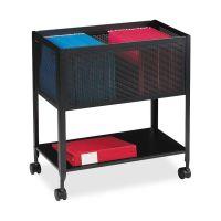Lorell Mesh Rolling File Cart LLR60175