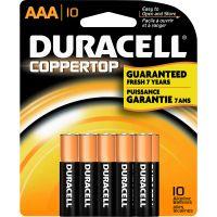 Duracell Coppertop Alkaline AAA Battery - MN2400 DURMN2400B10Z