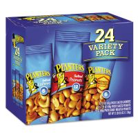 Planters Variety Pack Peanuts & Cashews, 1.75 oz/1.5 oz Bag, 24/Box PTN884624