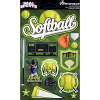 Real Sports Dimensional Cardstock Stickers NOTM082260