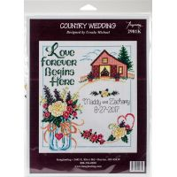 Country Wedding Counted Cross Stitch Kit NOTM052474