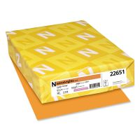 Astrobrights Color Paper, 24 lb, 8 1/2 x 11, Cosmic Orange, 500 Sheets/Ream WAU22651