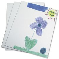 Chenille Kraft Canvas Panel, 9 x 12 x 1/8, White, 3/Pack CKC6052