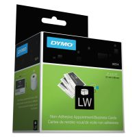 DYMO LabelWriter Business/Appointment Cards, 2 x 3 1/2, White, 300 Labels/Roll DYM30374