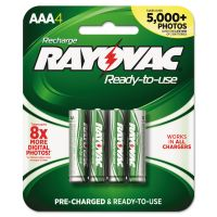 Rayovac Recharge Plus NiMH Batteries, AAA, 4/Pack RAYPL7244GEND