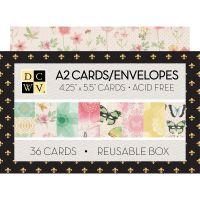 "DCWV Boxed A2 Cards W/Envelopes (4.375""X5.75"") NOTM539756"