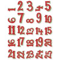Very Merry Pocket Pieces Die-Cuts 25/Pkg NOTM056505
