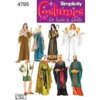 Simplicity Misses,men Or Teen Nativity Costumes NOTM496068