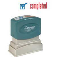 Xstamper Red/Blue COMPLETED Title Stamp XST2026