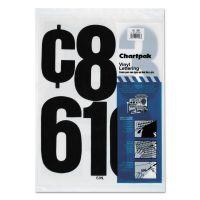 "Chartpak Press-On Vinyl Numbers, Self Adhesive, Black, 6""h, 21/Pack CHA01198"