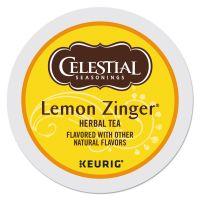 Celestial Seasonings Lemon Zinger Herbal Tea K-Cups, 24/Box GMT14732