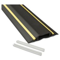 D-Line Medium-Duty Floor Cable Cover, 3 1/4 x 1/2 x 6 ft, Black with Yellow Stripe DLNFC83H