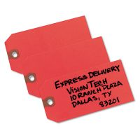 Avery Unstrung Shipping Tags, Paper, 4 3/4 x 2 3/8, Red, 1,000/Box AVE12345