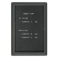 Quartet Enclosed Magnetic Directory, 24 x 36, Black Surface, Graphite Aluminum Frame QRT2963LM