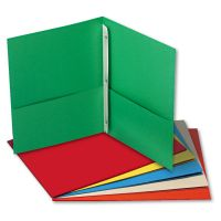 Universal Two-Pocket Portfolios w/Tang Fasteners, 135-Sheet Capacity, Assorted Colors, 25/Box UNV57113