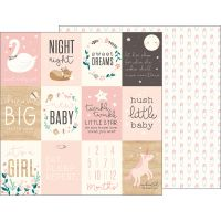 """Night Night Baby Girl Double-Sided Cardstock 12""""X12"""" NOTM338305"""