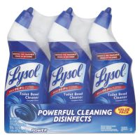 LYSOL Brand Disinfectant Toilet Bowl Cleaner, Wintergreen Scent, 24 oz Bottle, 3/Pack RAC90704PK