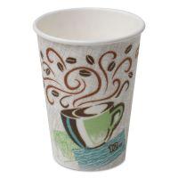 Dixie Hot Cups, Paper, 12oz, Coffee Dreams Design, 1000/Carton DXE5342CD