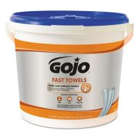 GOJO FAST TOWELS Hand Cleaning Towels, Cloth, 9 x 10, Blue 225/Bucket GOJ629902EA