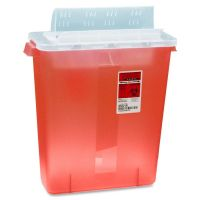 Covidien Transparent Red Sharps Container CVDSTRT10021R