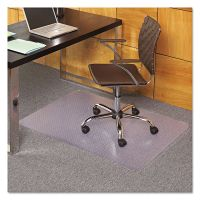 ES Robbins EverLife Chair Mats For Medium Pile Carpet, Rectangular, 36 x 44, Clear ESR121821