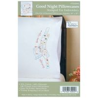 """Stamped Pillowcase Pair For Embroidery 20""""X30"""" NOTM378535"""