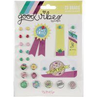 Good Vibes Decorative Brads 24/Pkg NOTM361389