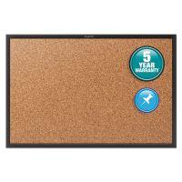 Quartet Classic Series Cork Bulletin Board, 36x24, Black Aluminum Frame QRT2303B
