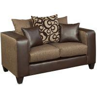 Flash Furniture Riverstone Object Espresso Chenille Loveseat FHFRS412001LGG