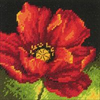 Red Poppy Mini Needlepoint Kit NOTM053163