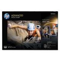 HP Advanced Photo Paper, 66 lbs., Glossy, 13 x 19, 20 Sheets/Pack HEWCR696A