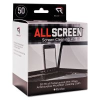Read Right AllScreen Screen Cleaning Kit, 50 Wipes, 1 Microfiber Cloth REARR15039