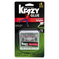Krazy Glue Single-Use Tubes w/Storage Case, 0.07 oz, 4/Pack EPIKG58248SN
