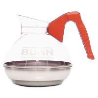 BUNN 64 oz. Easy Pour Decanter, Orange Handle BUN6101