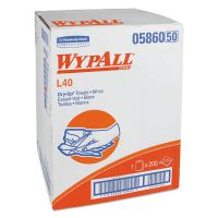 """WypAll* L40 Towels, Dry Up Towels, 19 1/2"""" x 42"""", White, 200 Towels/Roll KCC05860"""