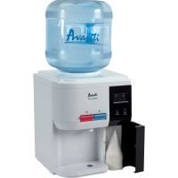 "Avanti Tabletop Thermoelectric Water Cooler, 13 1/4"" dia. x 15 3/4h, White AVAWD31EC"
